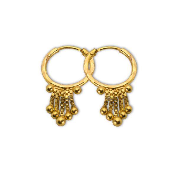 8-Ball Gold Earrings