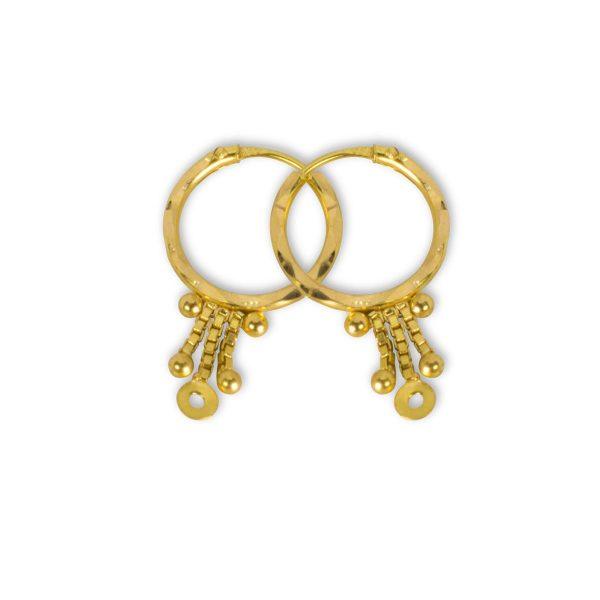 Amber Loop Earrings