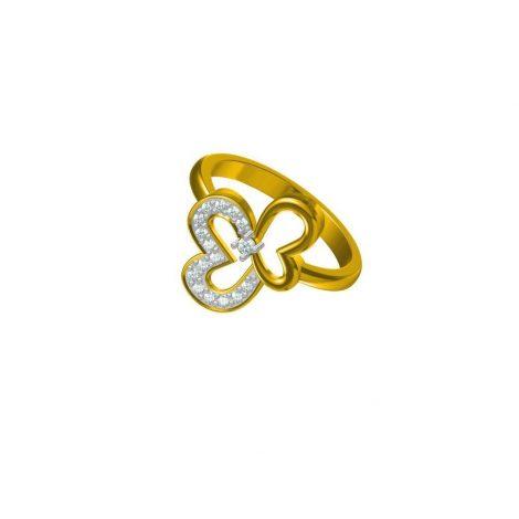 Bi Heart Ring