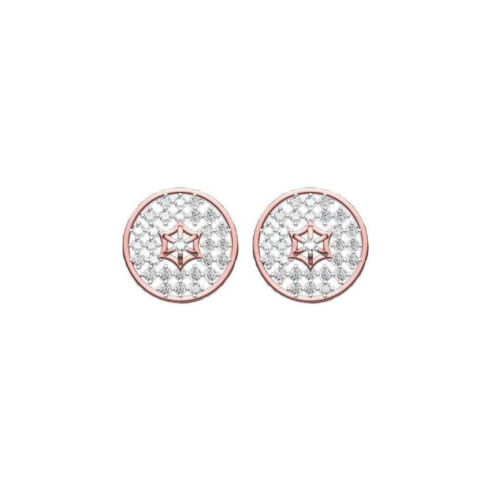 Circle Rose Earrings