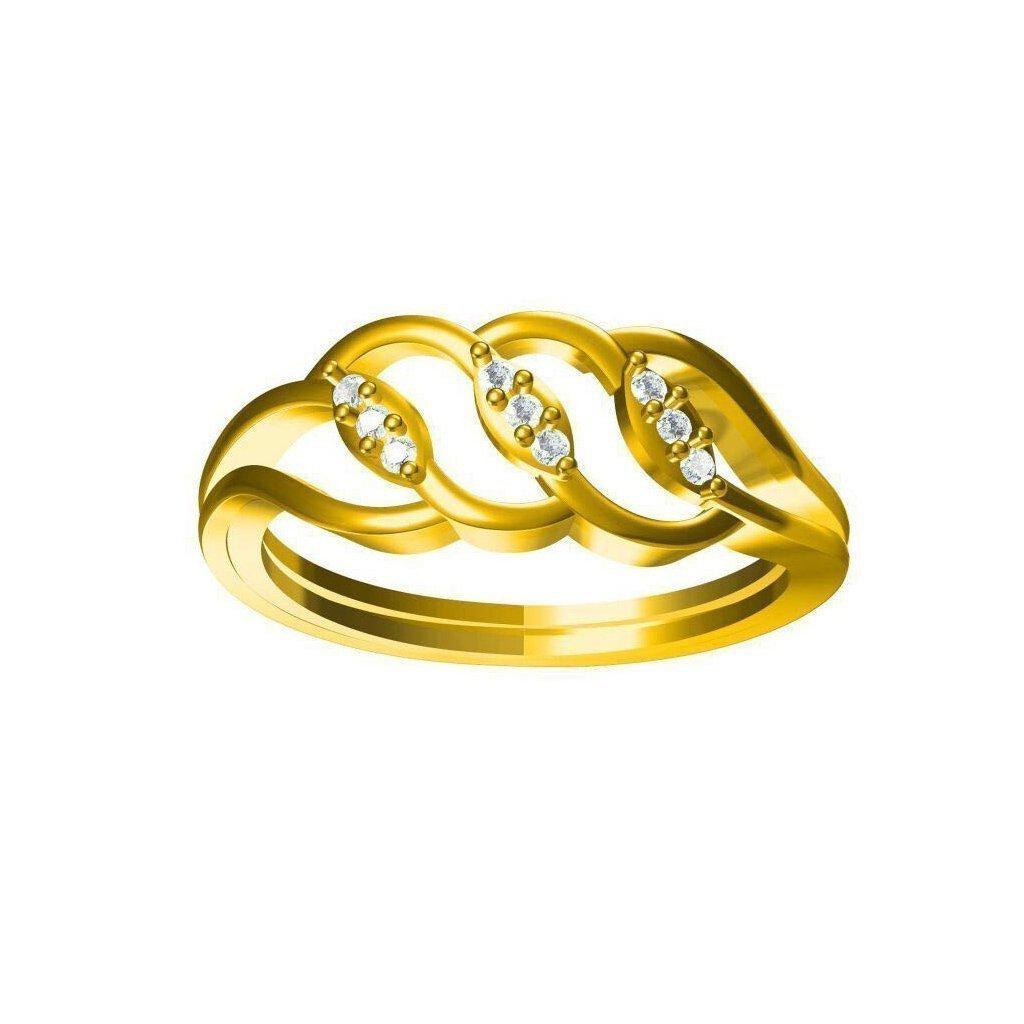 Crystal Diamond Ring