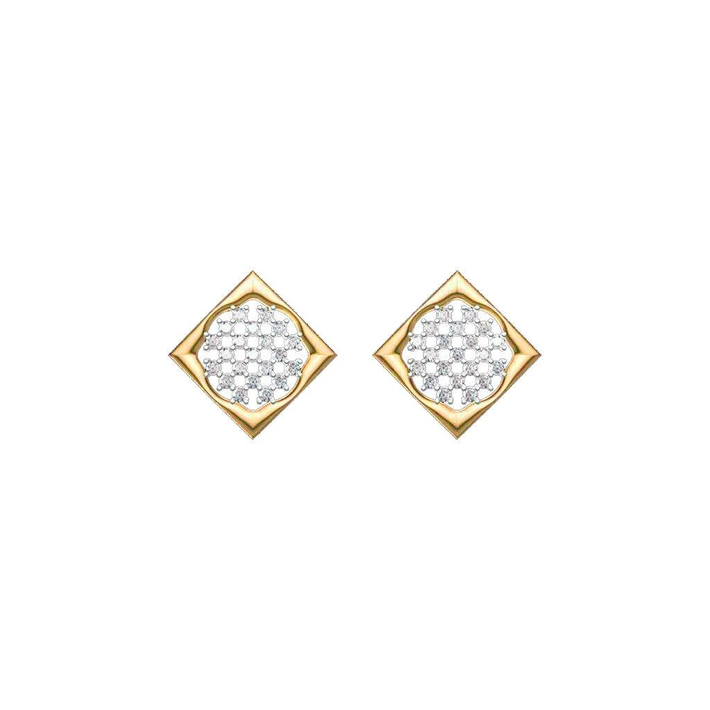 Cubica Gold Earrings