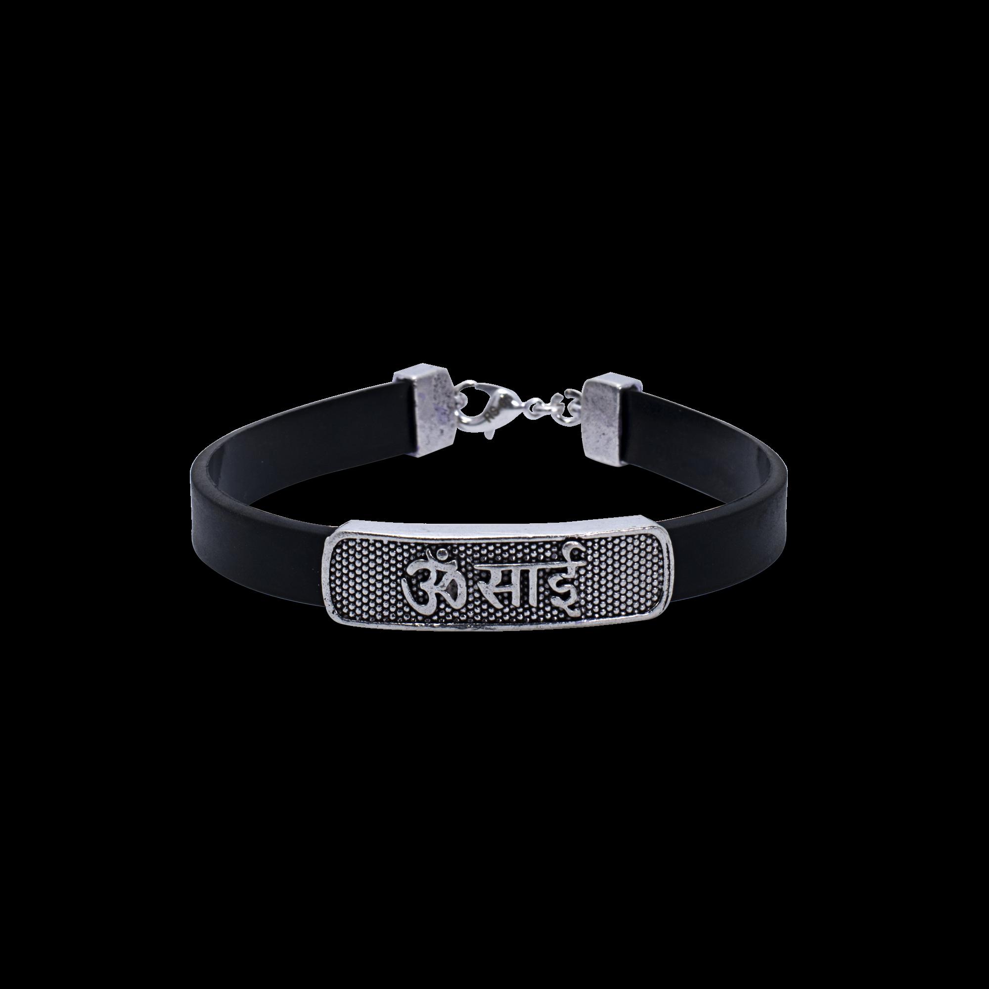 Om Sai Sterline Bracelet