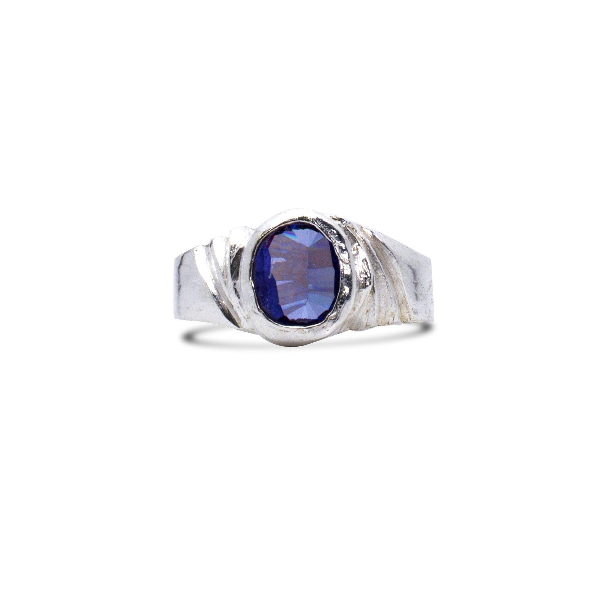 Magenta Silver Ring