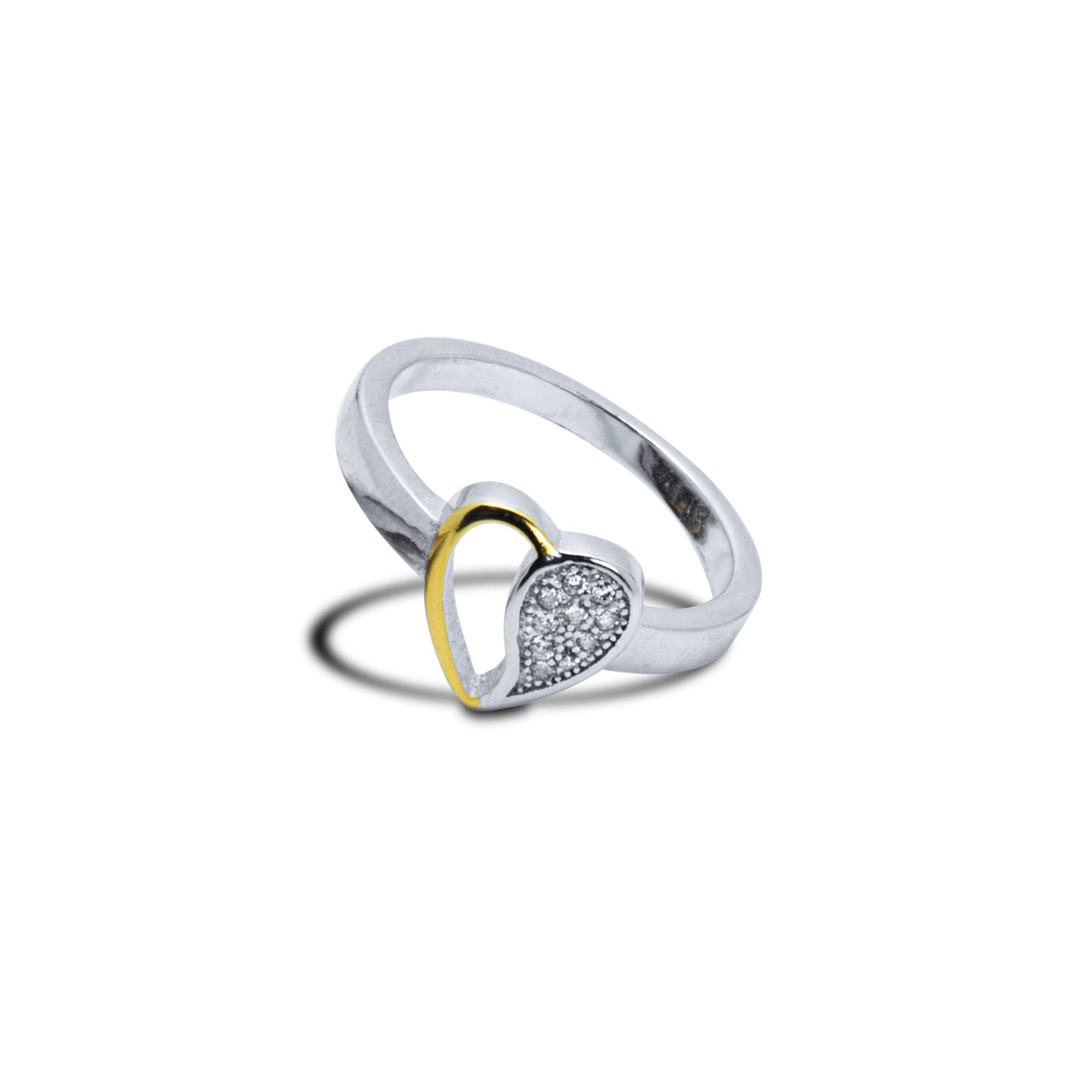 Half Heart Ring