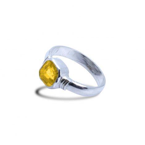 Pokhraj Silver Ring
