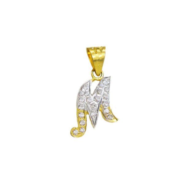 Diamond Alphabet Pendant