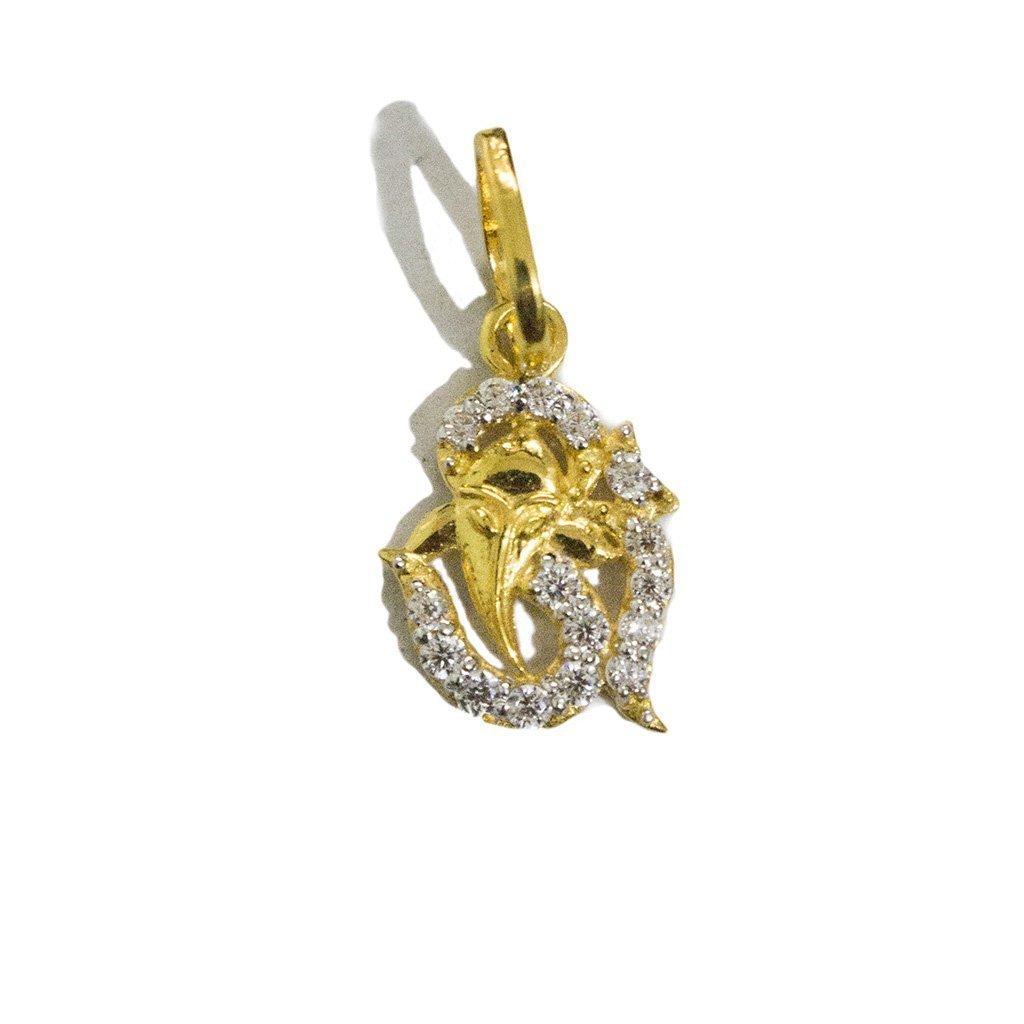 Diamond Om Pendant