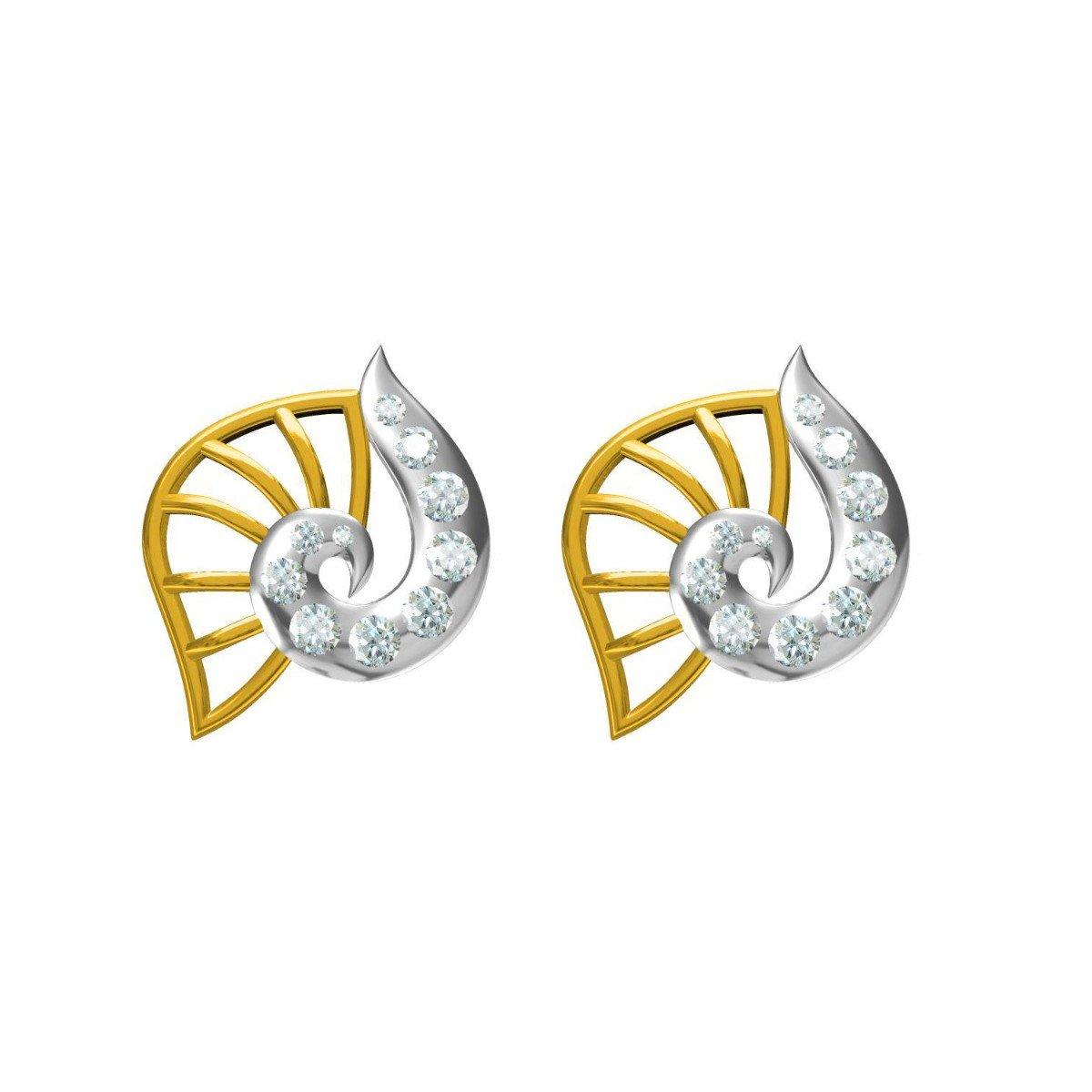 Diamond Shell Earrings