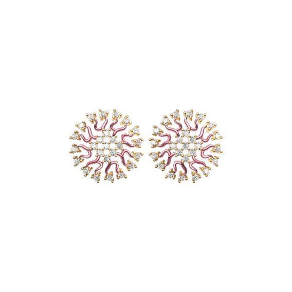Flash Rose Earrings
