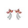 Flying Peach Earrings