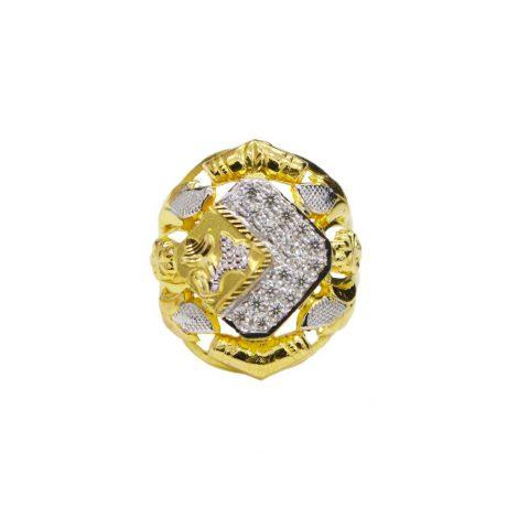 Gold Crunch Ring