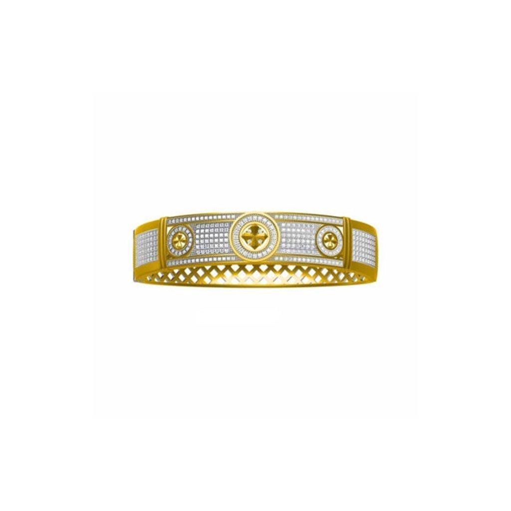 Golden Cross Bracelet