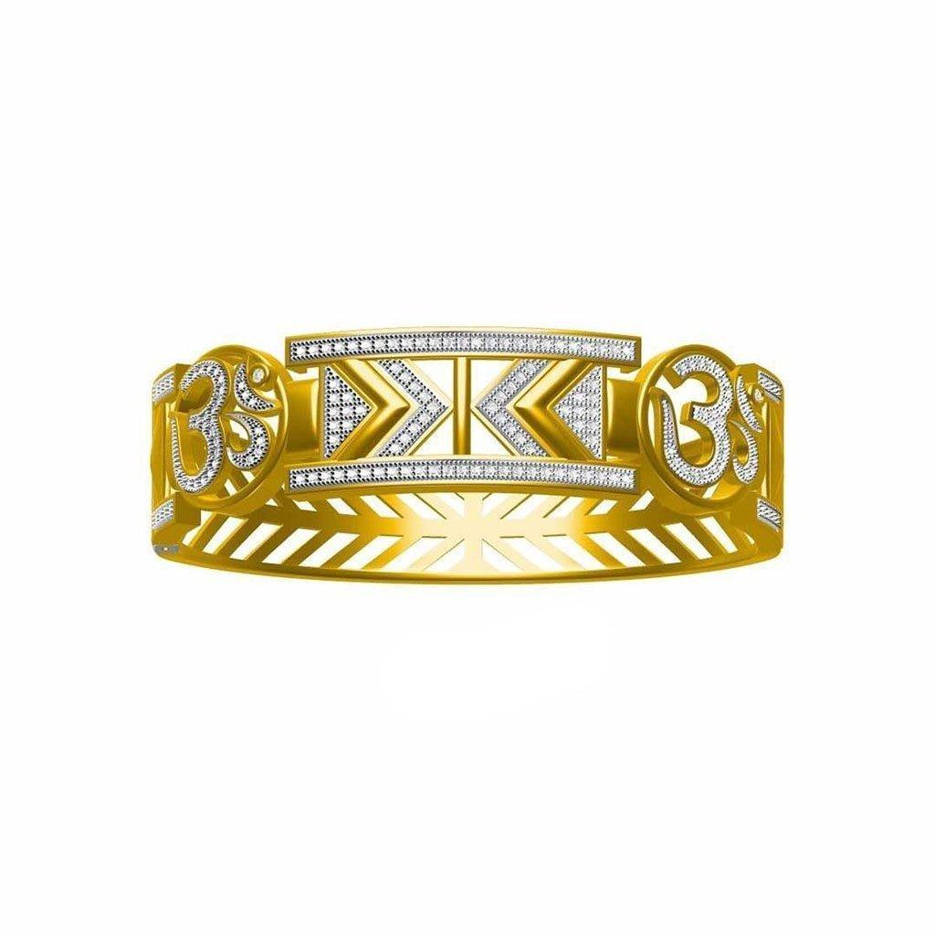 Om Gold Bracelet