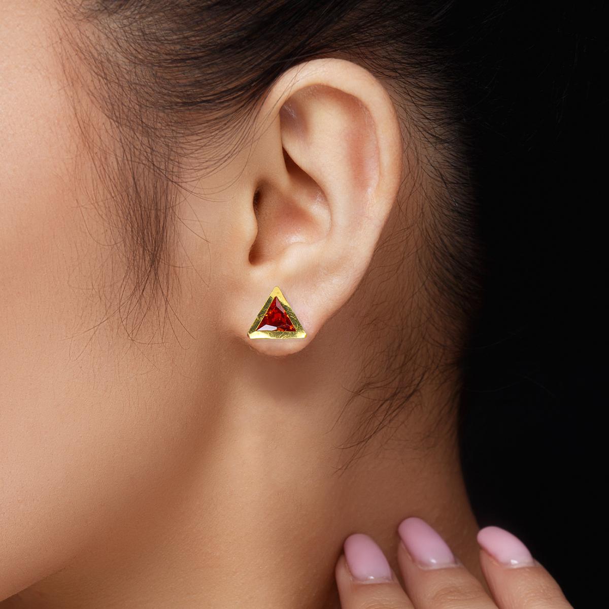 Red Triton Earrings