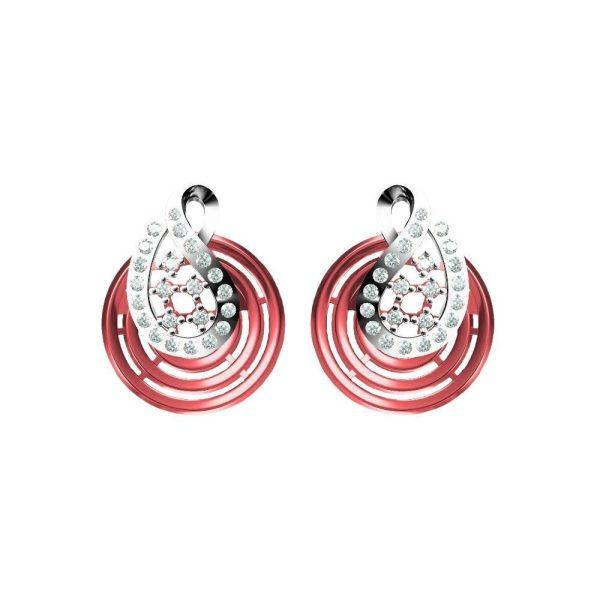 Red Twirl Earrings