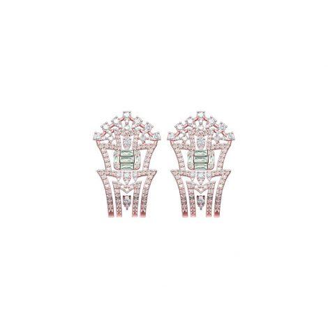 Rose Amber Earrings
