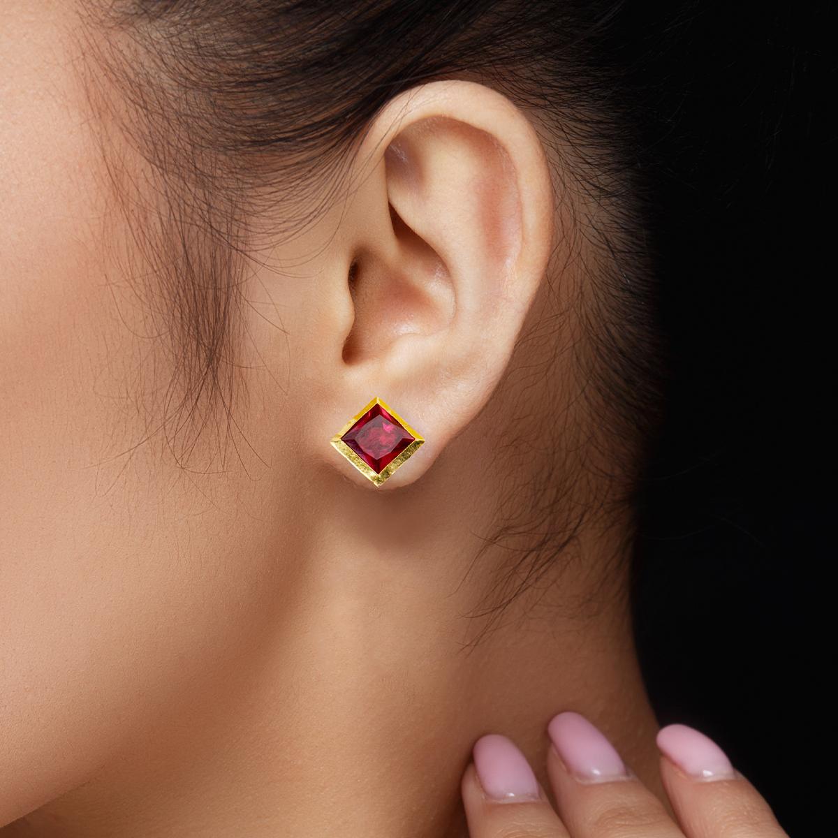 Scarlet Edge Earrings