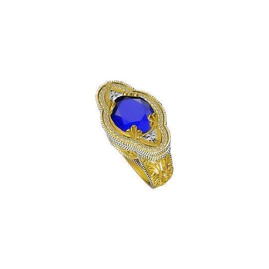 Blue Petals Ring