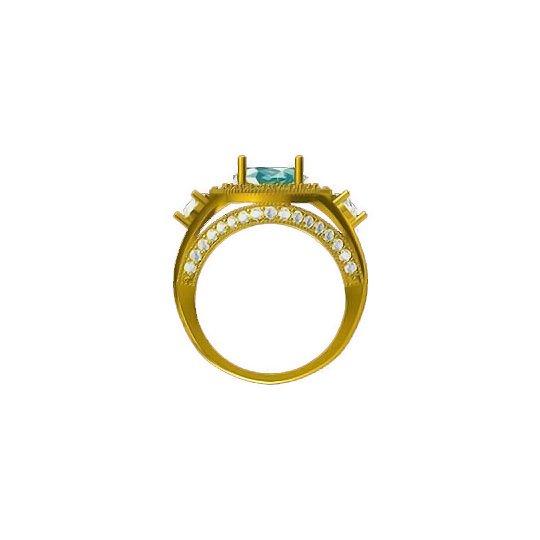 Green Petals Ring