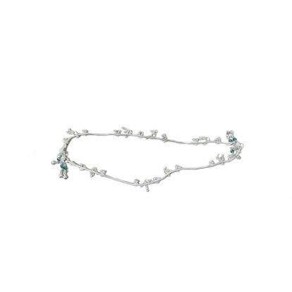 Turquoise Silver Anklets