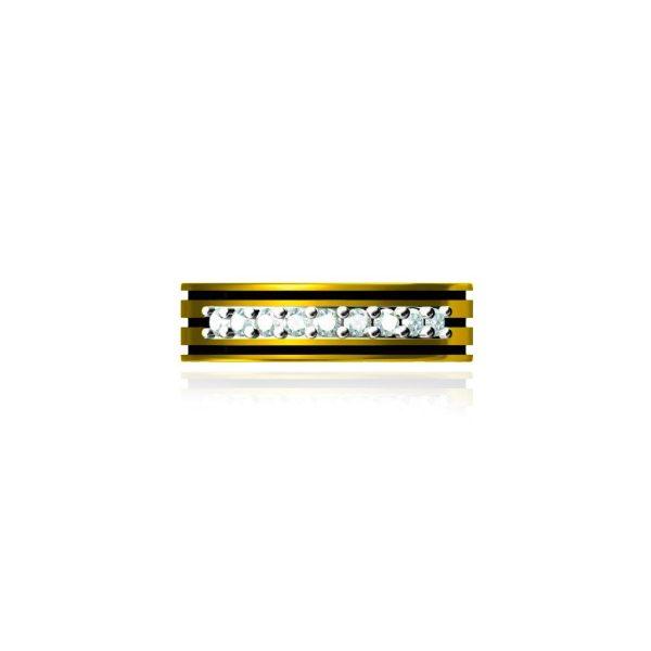 Amber Line Ring