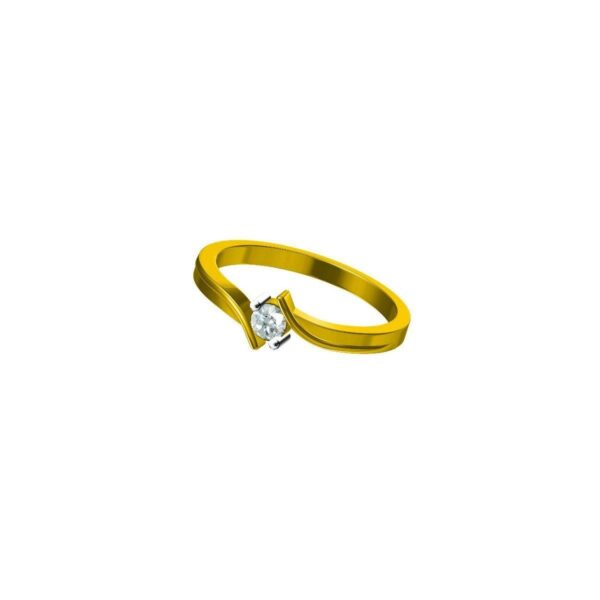 Amber Solitaire Ring