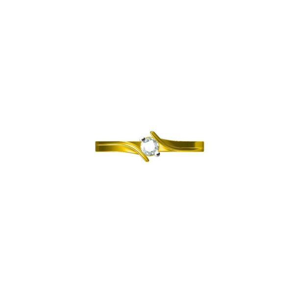 Amber Solitaire Ring 2