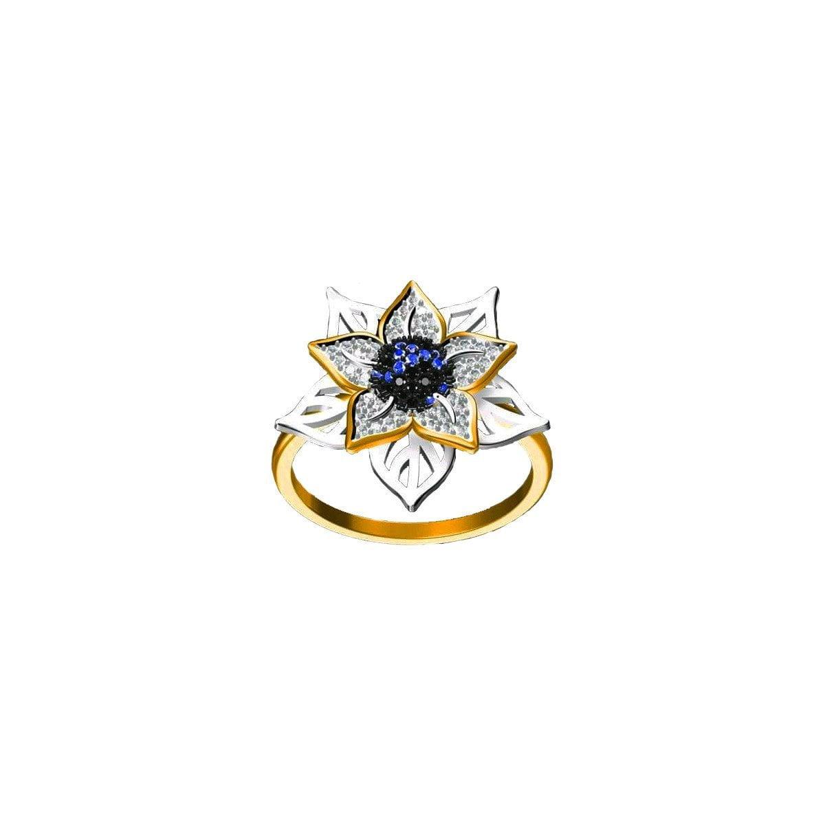 Blue Bloom Ring