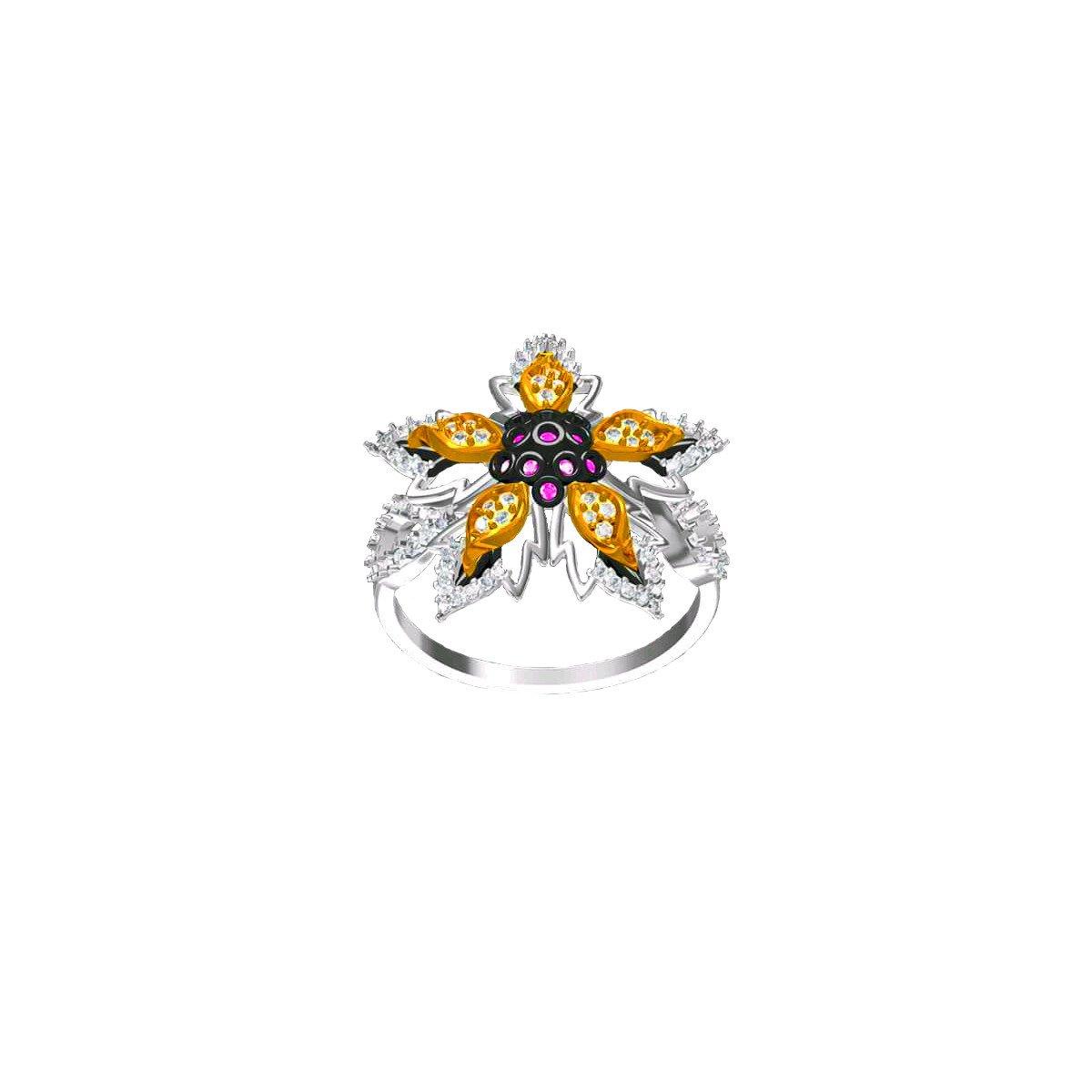 Dark Bloom Ring