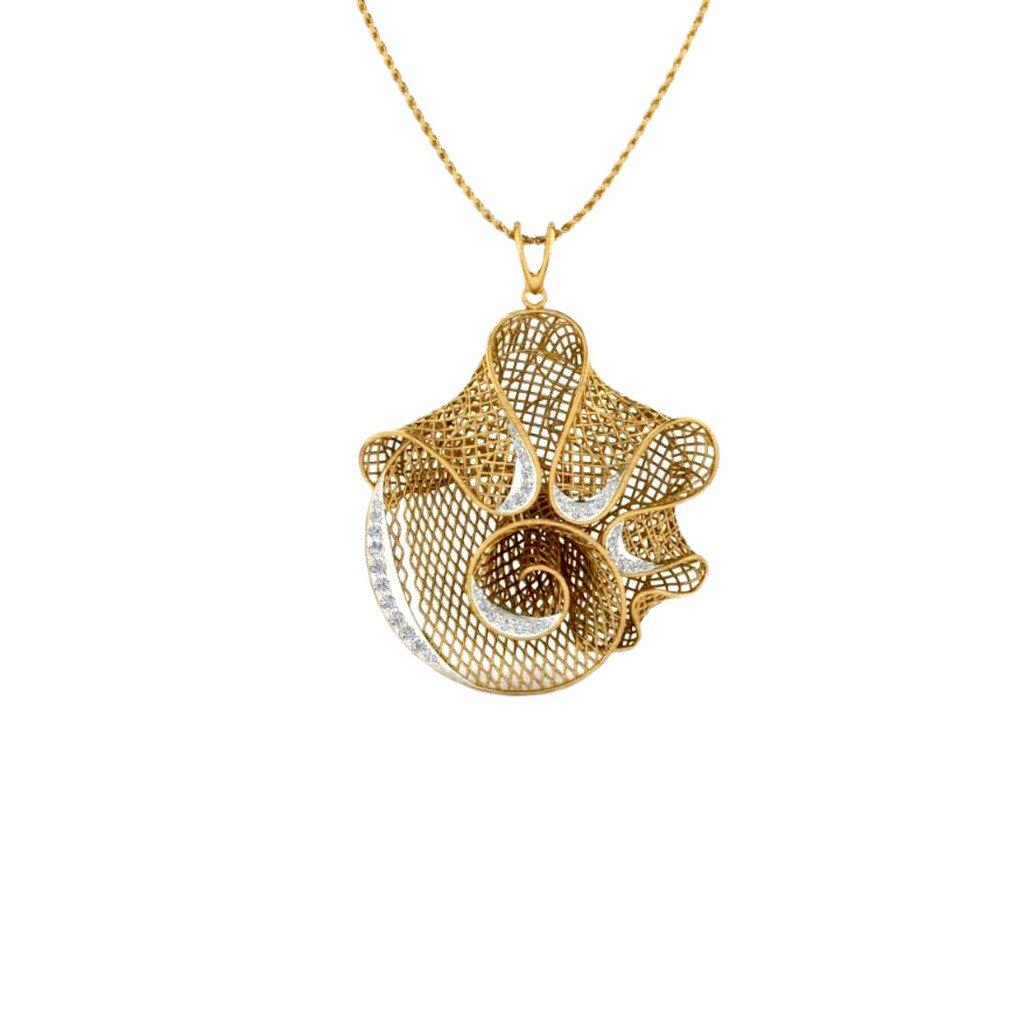 Diamond Twirl Pendant