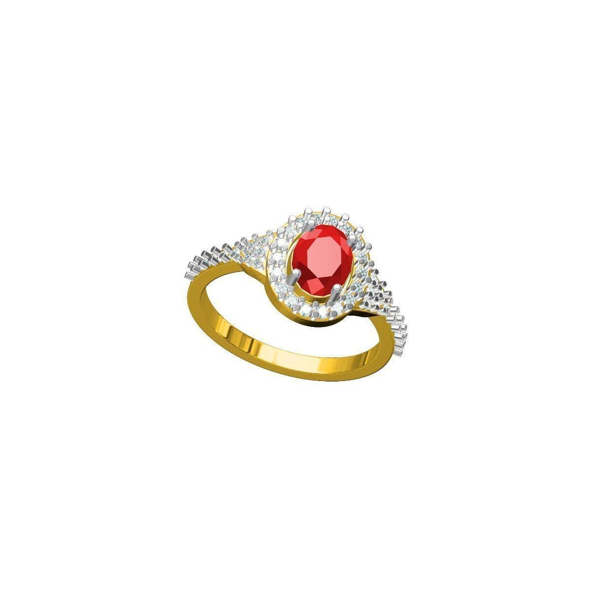 Maroon Star Ring