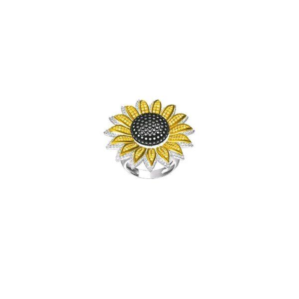 Sunflower Gold Ring