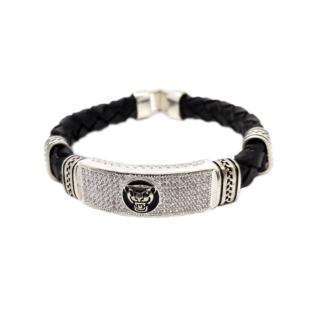 Black Cat Silver Bracelet