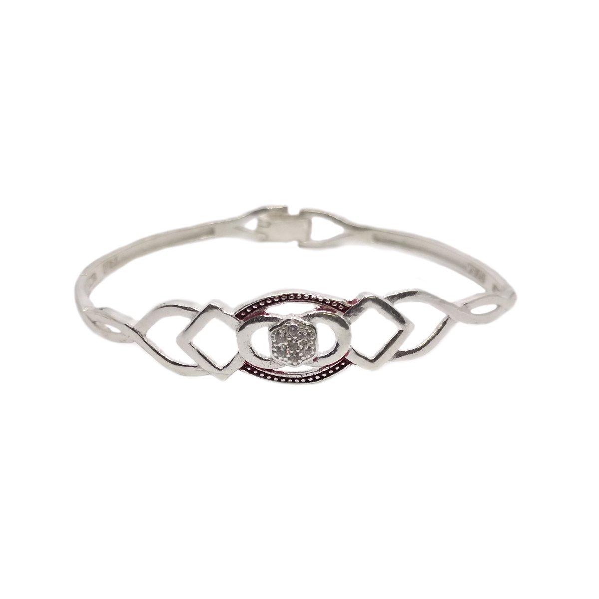 Red Lines Silver Bracelet