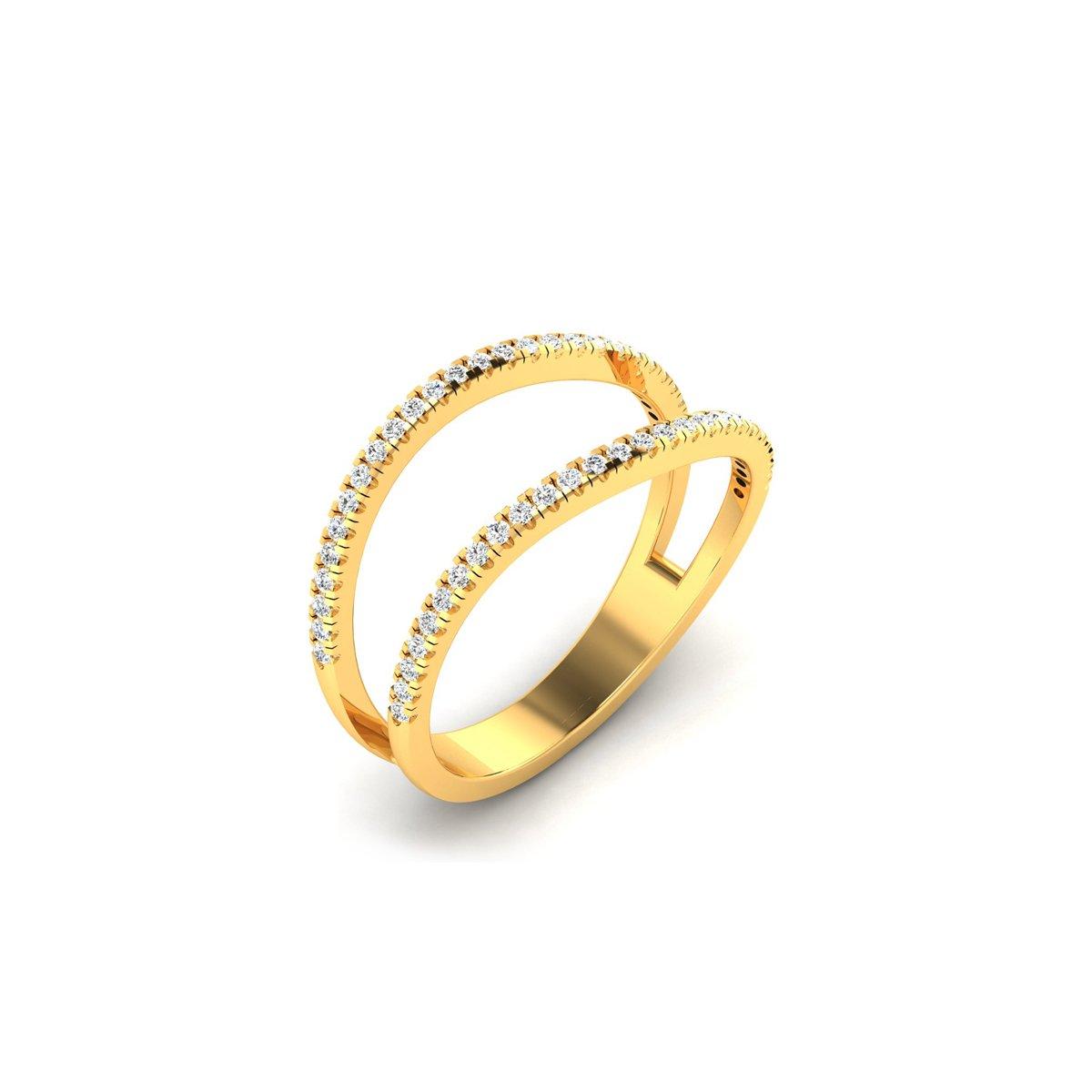 Split Star Gold Ring
