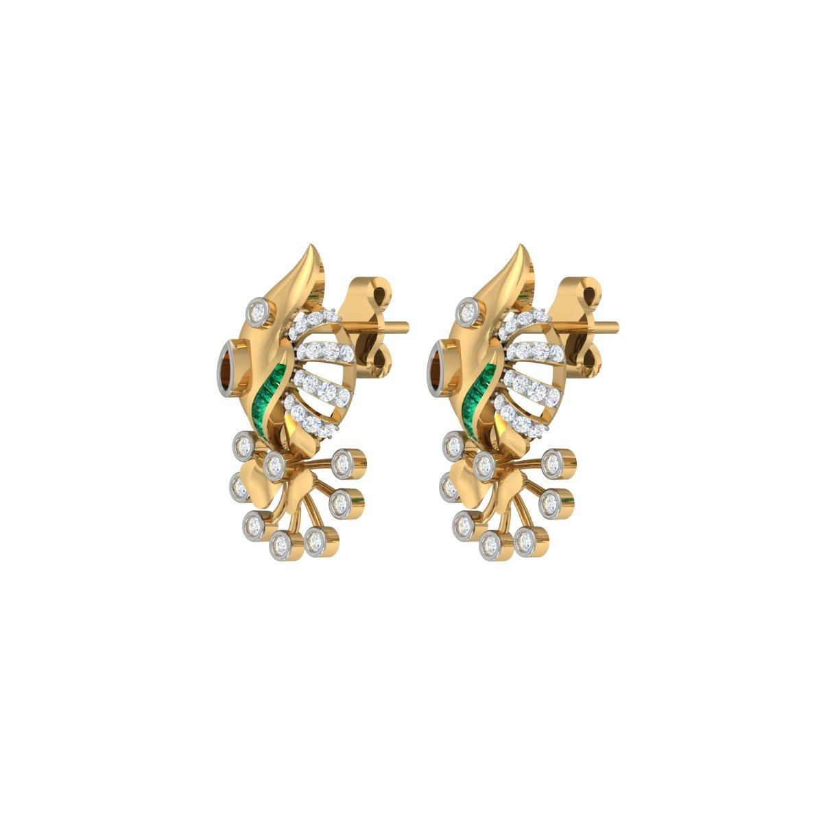 Dahlia Diamond Earrings