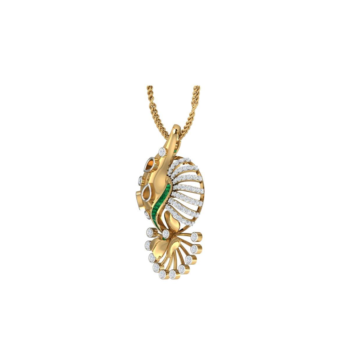 Dahlia Diamond Pendant