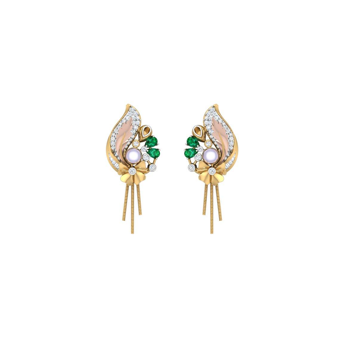 Hibiscus Diamond Earrings