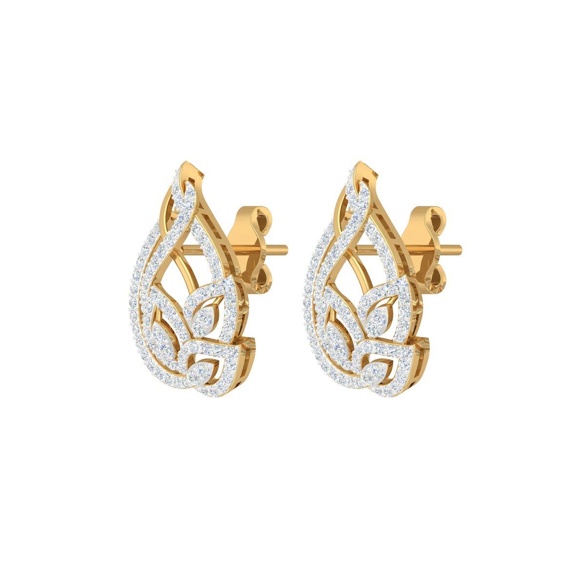 Tulip Diamond Earrings