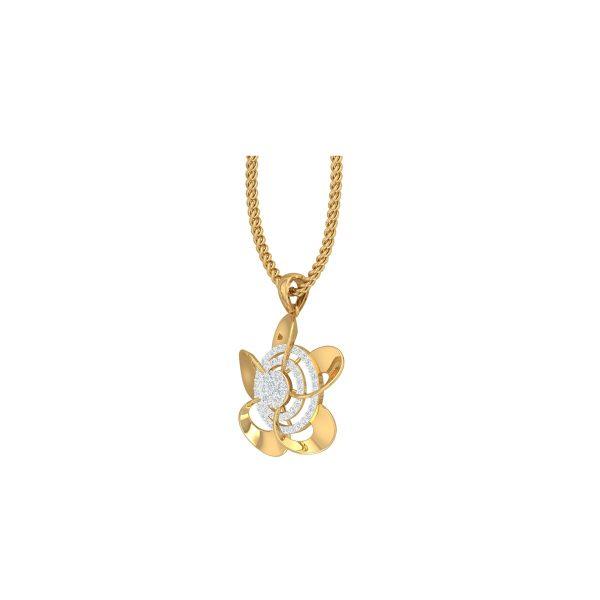 Sapphire Diamond Pendant