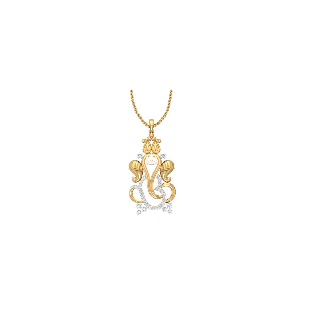 Ganeshay Diamond Pendant