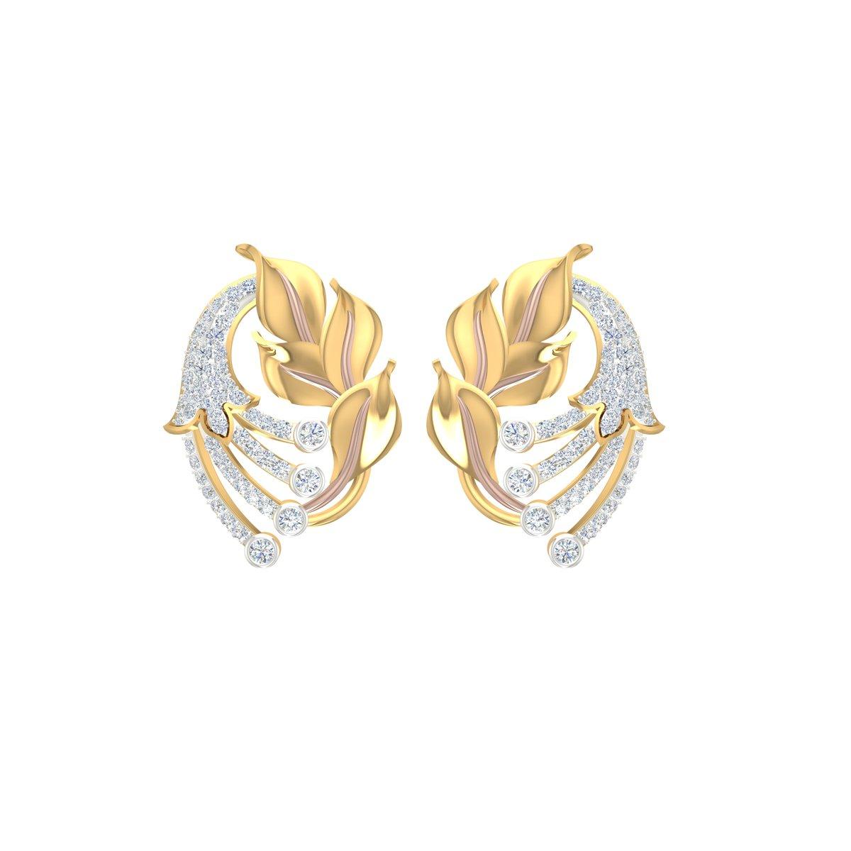 Carnation Gold Earrings