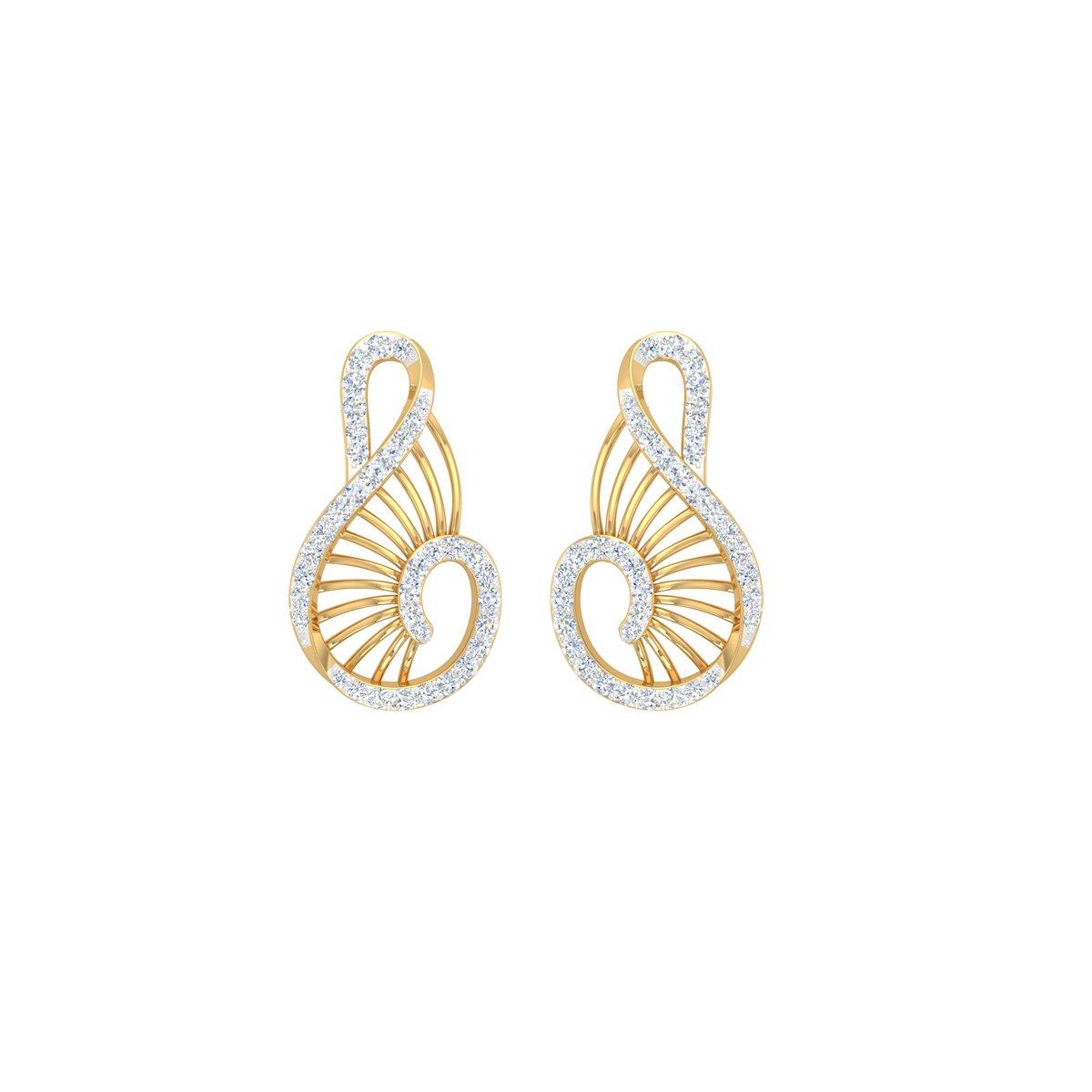 Daffodil Diamond Earrings