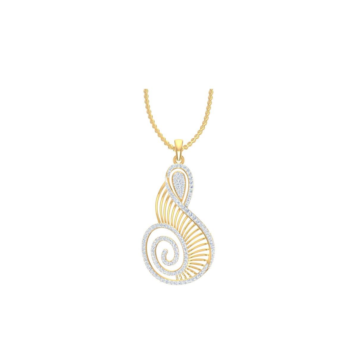 Daffodil Diamond Pendant