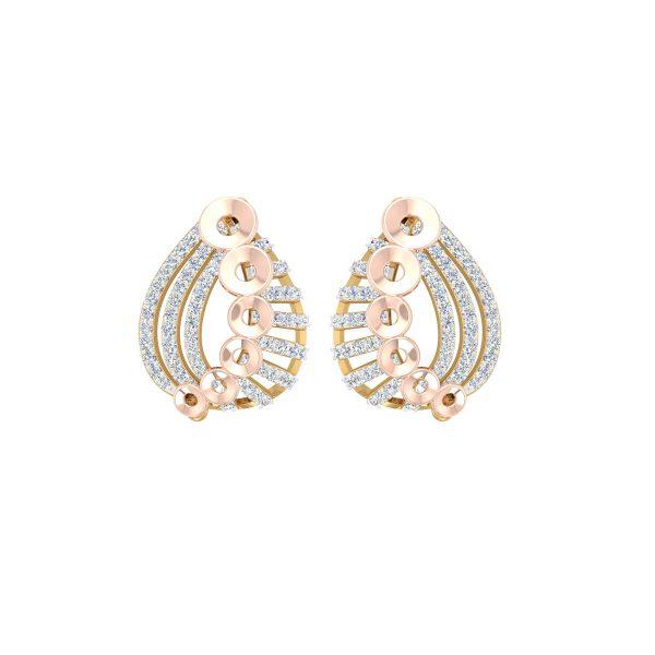 Rose Line Gold Earrings