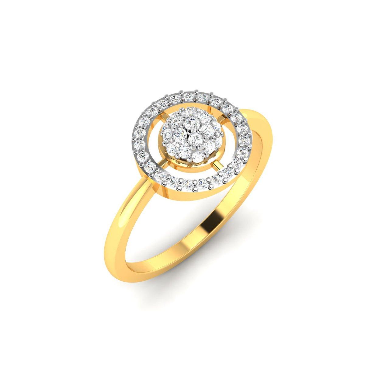 Gold Crop Diamond Ring