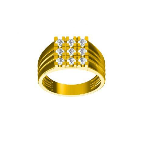 Diamond Stack Gold Ring