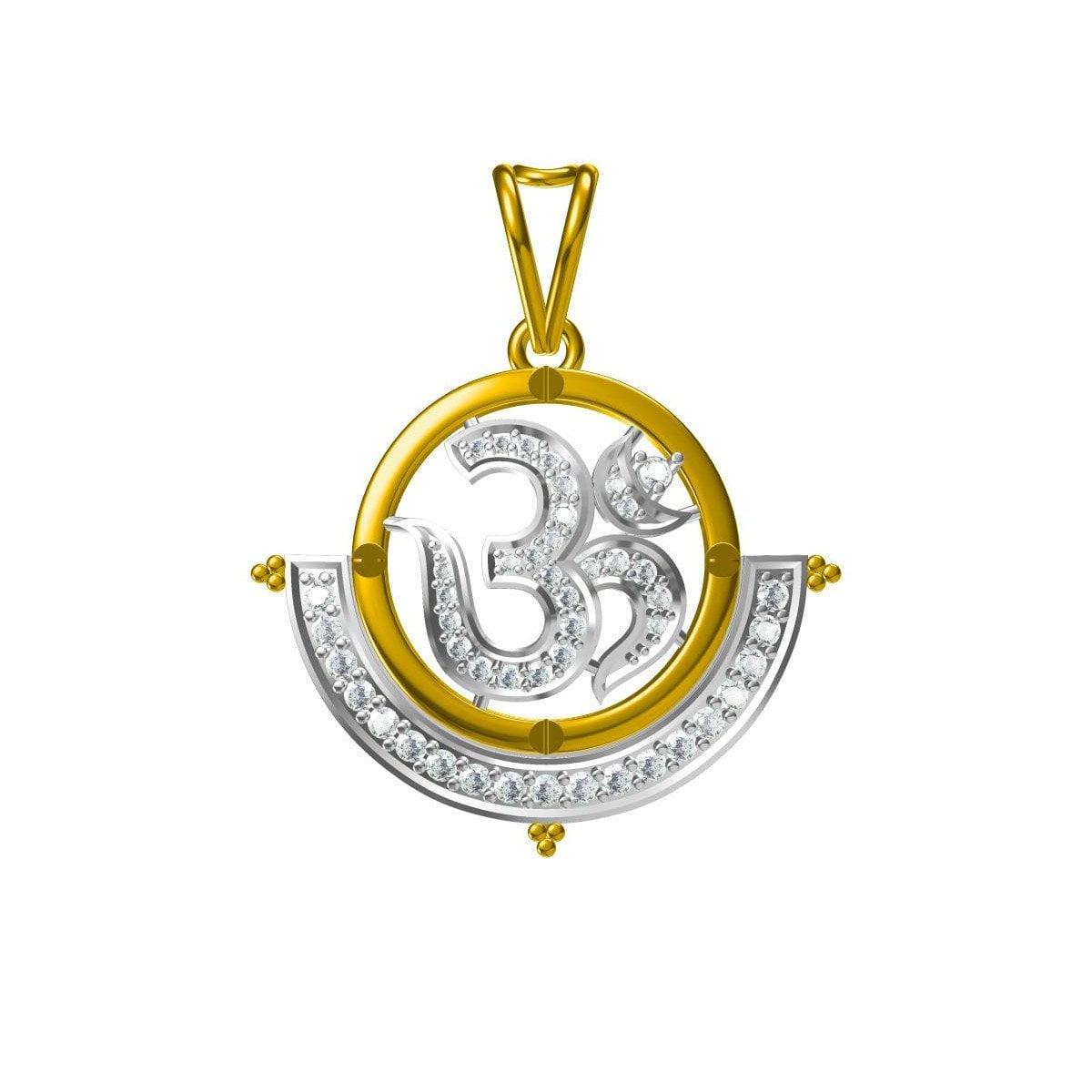 Om Rudra Gold Pendant