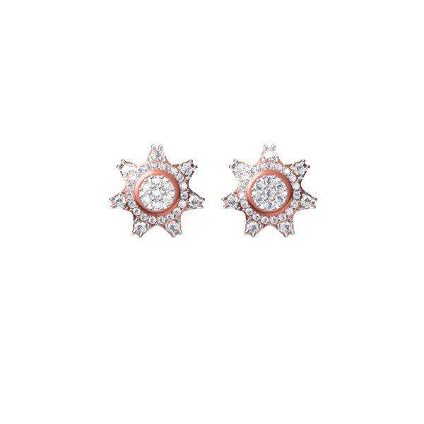 Windflower Diamond Earrings